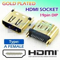 Socket HDMI Female 19 Pin Gold Plated DIP 1.6mm Connector A Betina PCB