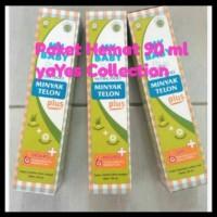 90 ml Paket hemat 3 minyak telon mybaby plus - perawatan tubuh bayi -
