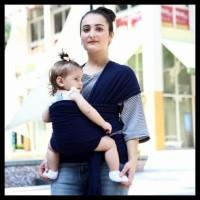Tas Gendongan Bayi Baby Wrap Sling Carrier HITAM perawatan anak 700za