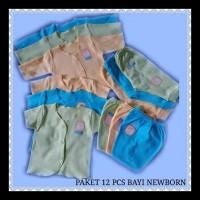 Paket hemat 12 pcs pakaian bayi baru lahir polos Jingle perawatan
