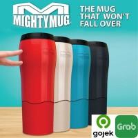 Mighty Mug Tumbler Botol Termos thermos minum Anti Tumpah Senggol - Putih