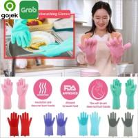 Sarung Tangan Sikat silicone motor oven dapur cuci piring Magic Glove - Hijau Muda