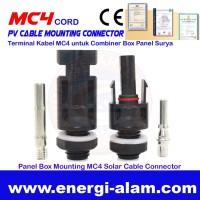 MC4 Cord Terminal Kabel Panel Surya Konektor Mounting untuk Panel Box
