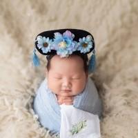 Bando imlek bayi putri huan zhu bunga peony chinese new year baby