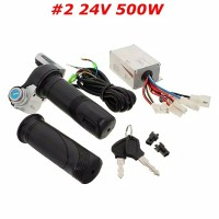 kit sepeda listrik motor brushed 24v 500W DC throttle gas kontroler