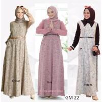 gamis dewasa/rahnem gm 22/baju muslim/busui friendly/coklat dan hitam