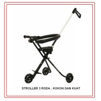 STROLLER MICRO 3 RODA BISA LIPAT ( DORONG ANAK + FREE BUBLE WRAPPING)