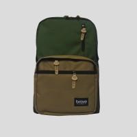 Tas Punggung Ransel Laptop Casual Backpack - Brave Eskola Green Gold