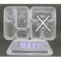 Bento plastik 4 sekat OTI - Kotak makan - Food container