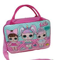 Tas travel bag koper selempang anak lol surprise ukuran besar murah