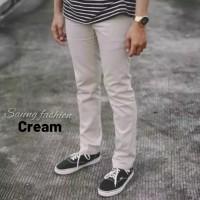 celana chino panjang / celana cino pria / celana chinos murah - Cream, 27