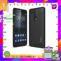 Promo case Hardcase Casing Nokia 8 Softcase Ipaky Carbon Soft