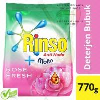 Rinso Anti Noda + Molto Rose Fresh 770 g Bubuk Detergen Sabun Bubuk