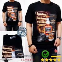 Kaos pria 3D Jack Daniels something 2205 Bahan Cotton Spandex