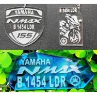 Gantungan kunci Yamaha Nmax custom plat nomor dan bisa pilih warna