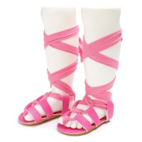 Gladiator Crib Shoes Sandals Soft Kids Cross-tied 0-18m Bandage Boys T