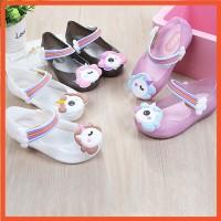 SF 14-16cm Mini Melissa Replika Unicorn Jelly Shoes Flat Shoes Anak Pe