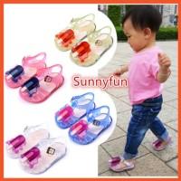 SF 0-3 Tahun Mini Sed Flat Jelly Shoes Sepatu Anak Perempuan Alas Anti