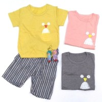 Setelan Baju Anak Bayi Cowok / Laki-Laki Bird Import (2 bln - 3 th)