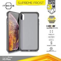 ITSKINS Shock Proof Case iPhone XS MAX - Supreme Frost - Grey Black