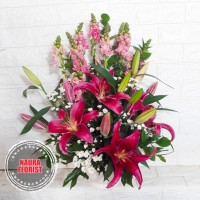 rangkaian bunga snap dragon/bunga meja lili / bunga segar/bunga asli
