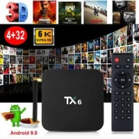 TX6 6K Android TV Box 4GB 32GB 2.4/5GHz Android 9.0 WiFi BLUETOOTH 4.1