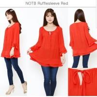 NOTB Rufflesleeve Red Blouse brand murah