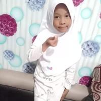 jilbab anak sekolah putih polos bergo anak hommy kids white & d choco