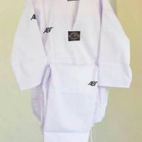Baju Taekwondo AB Champion Kerah Putih