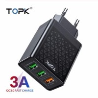 TOPK 3 PORT QUICK CHARGER 3.0 USB CHARGER QC 3.0 FAST CHARGING
