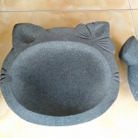 Cobek Batu karakter Hello kitty size L