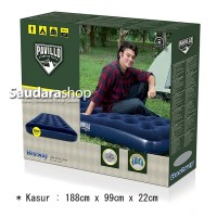 Bestway 67001 Kasur Angin Twin Biru [188cm x 99cm] / Air Bed Twin