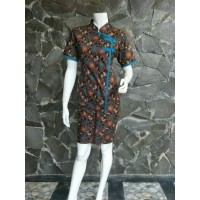 JUMBO XXL - Setelan Batik Rok dan Blus Pendek Wanita Malika