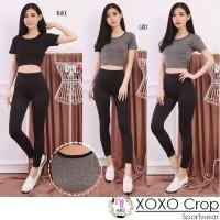 Xoxo Crop Sport / Baju senam Import / Baju senam Yoga Wanita
