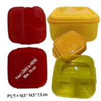 kotak makan / lunch box murah bahan plastik food grade