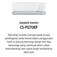 AC STANDARD INVERTER PANASONIC CS-PU7UKP 3/4PK 3/4 PK R32 AEROWINGS