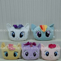 BONEKA BANTAL KUDA PONI MY LITTLE PONY FACE CUSHION PILLOW