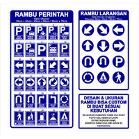 Rambu Petunjuk Arah Kotak 35cm x 50cm Plat Alumunium