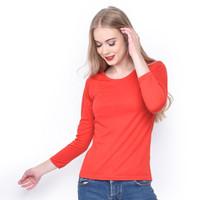 MOSIRU Baju Wanita Kaos Oblong Termurah Tumblr Tee O-Neck Panjang