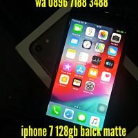 iphone 7 128gb black matte ex. inter fullset