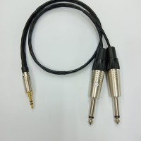 Kabel Aux Audio Canare 2Mtr Plus Jack 3.5mm Mini Stereo Male To 2 Akai