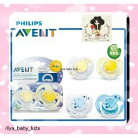 Empeng AVENT Night Time Soother 0-6m 6-18m Isi 2 pacifier soother glow