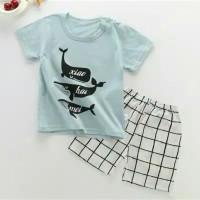 Setelan Kaos Impor untuk anak 3-4 tahun
