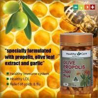 Healthy Care Propolis Garlic & Olive Leaf Imunitas Sehat 180 Capsules