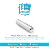 Power Bank Anker PowerCore+ Mini 3350 mAh Premium - Silver [A1104H41]