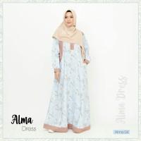 Alma Dress 04 by Khaiya / Gamis Katun jepang /Gamis Casual /Gamis saja