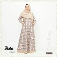Alma Dress 03 by Khaiya / Gamis Katun jepang /Gamis Casual /Gamis saja
