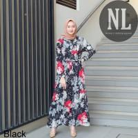 Nana plisket/ maxi dress/gamis wanita/gamis murah/dress muslim/ syari