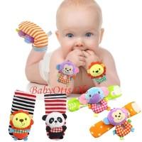 Happy Monkey Rattle Gelang Tangan Hand Wrist Mainan Bayi