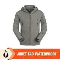 Jaket TAD Import/ Jaket Kamuflase/Waterproof Shark Skin - Abu-abu, S